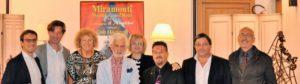 La presentazione del libro a Cortina, al centro il maestro Gino Masciarelli
