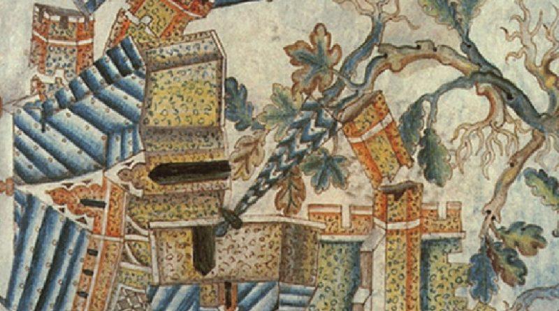 Immagine: Apocalisse di Giovanni, Il terremoto all'apertura del sesto sigillo, sec. XIV, British Museum